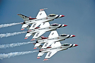 USAF Thunderbirds inflatable bouncy airshow rentals